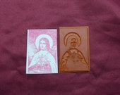 Saint Theresa / The Little Flower /  Unmounted Rubber Stamp