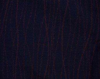 Vintage kimono S345, eggplant purple colored