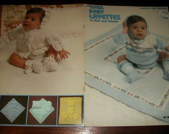 Baby Afghan Knit and Crochet Patterns Baby Layettes to Knit and Crochet Leisure Arts 125 Crocheting and Knitting Pattern Leaflet