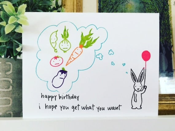 Birthday Card - Gocco - A Bunny Birthday from PaperMichelle