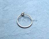 Small Silver Hoop Earring Single, eco friendly women men unisex gift, minimal hoop earrings