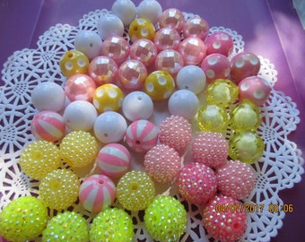 Bulk Beads, 50 Spring Beads, 20 MM beads, Party Favor, Necklaces or Bracelets