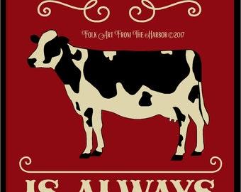 Primitive Stencil Farm Fresh with COW Reusable