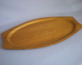 Large Teak Tray-Teak Serving Tray-Mid Century Platter-Large Serving Tray-Vintage Kitchen Item