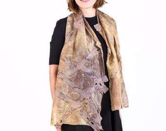 Silk Scarf| Scarves | Felted Scarf| Kate Ramsey |Accessories| gift | Fashion | Beige | Seide |unique | handmade | wearable art