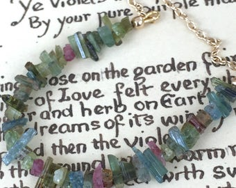 Tourmaline Crystal Necklace Necklace