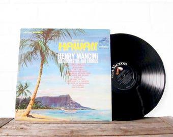 "Vintage Hawaiian Record - ""In The Mood"" - 78RPM Vinyl Hawaii Record - Original Vinyl LP Disc - The Music of Hawaii - Henry Mancini - 1960s"