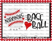 Nationals Baseball SVG love htv T shirt Design Vinyl  SVG and DXF Files Electronic Cutting Machines, Silhouette, Cameo, Cricut, Instant Down