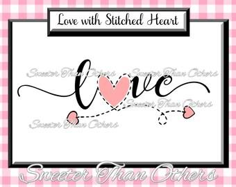 Love Svg Silhouette Valentines svg, Dxf Silhouette Studios, Cameo Cricut cut file INSTANT DOWNLOAD, Vinyl Design, Htv Scal Mtc