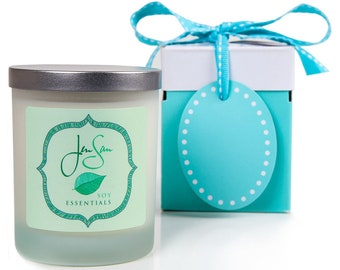 Lavender Rosemary Herbal Candle - Handmade with Natural Soy Wax and Essential oils, Eco friendly, small 8 oz (227 grams)