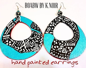 Mudcloth Teardrops  Earrings