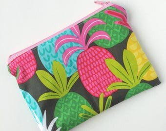 Zippered Snack Bag - Pineapples Snack Bag - Lunch Pouch - Lunch Bag - Snack Pouch - Reusable Snack Bag - Food Bag - Snack Pouch - Snack Sack