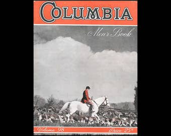 Columbia Men's Book - Vol. 98 - Columbia Yarns - James Lees & Sons Company - Vintage Knitting and Crochet Booklet c. 1941 - Men's Clothing