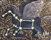 Pegasus Hand Painted Notecard