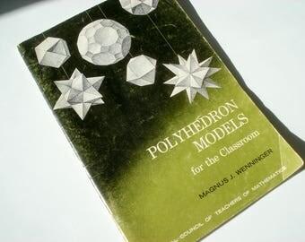 Polyhedron Models - classroom book - 1966