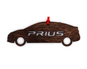Wooden Toyota Prius Ornament