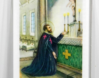 St. Camillus Holy Card with Prayer for the Sick Laminated Catholic Saints 18251