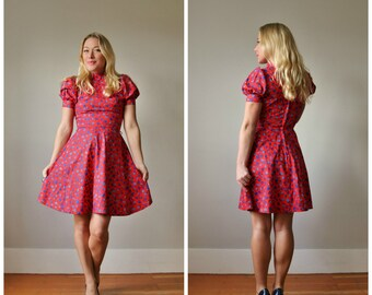 1950s Swedish Tulip Dress >>> Size Double Extra Small to Extra Small