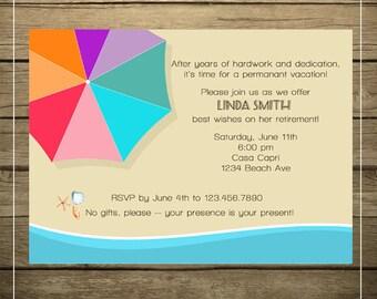 Beach Invitation - Printable File - DIY