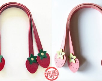"Sweet Fruit Purse Handles By Atsuko for Lecien Japan - Strawberry 12"" Small - 1 pair - choose a color"