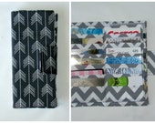 women's wallet 38 Business Card Organizer, Credit Card Organizer Wallet, 38 Slot Card Loyalty, Card Organizer, Charcoal
