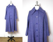 Vintage Jimmy Hourihan of Dublin Violet Wool Coat XL