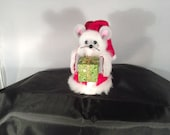 Santa Mouse with a Present