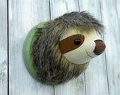 Sloth Faux Taxidermy Home Décor