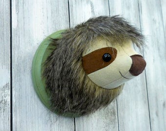 Sloth Faux Taxidermy Home Décor