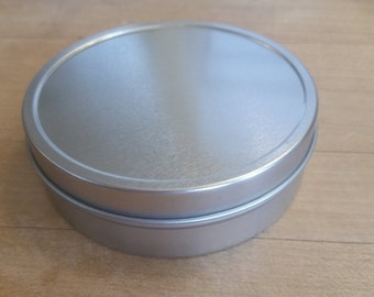"4"" Steel Round Tin - Great for Packaging & Favors"