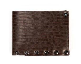 Brown Wallet | Mens Wallet | Wallet | Folding Wallet | Bi-Fold | Card Holder | Durable Wallet | Money Holder | Vegan Wallet | Made in USA