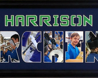 Personalized High School Marching Band Photo Collage (mat only) in 8 x 26