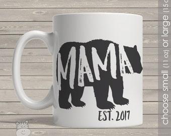 Coffee mug mama bear mama established any year personalized mug CMMB