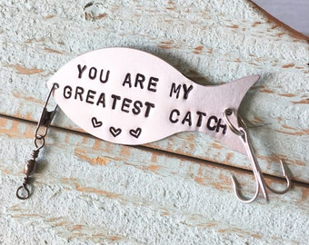Gift For Fisherman, Personalized Fishing Lure, MY GREATEST CATCH, Gift, Fisherman, Fishing, Fishing Lure, Fishing Gift, Fisherman Gift