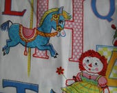 Cotton Fabric ABCs Toys Print for Sewing Crafts 19 X 44 wide plus