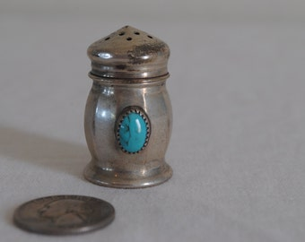 Vintage Sterling Silver and Turquoise Shaker