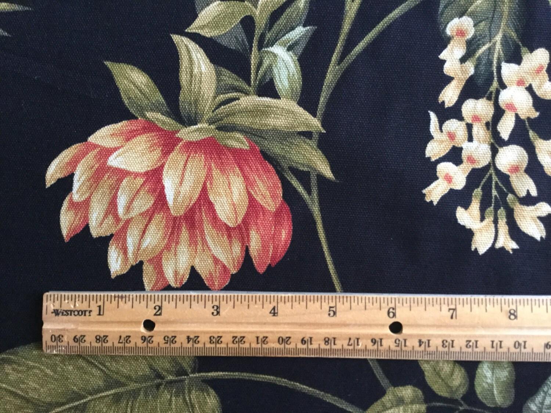 Kingsway Caribbean Dawn Black Tropical Floral Drapery Home Decor Fabric