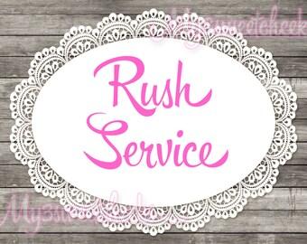 Rush Service on Digital Files