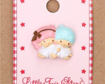 203299 single Little Twin Stars button 1 piece by Sanrio