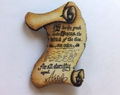 CUSTOM LISTING FOR funinthesun16 - Ursula and Ariel Contract - The Little Mermaid - Laser Cut Wooden Brooch