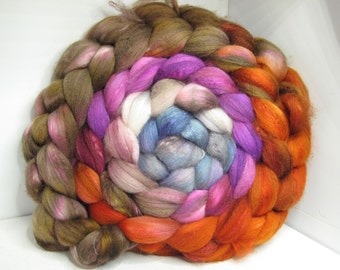 Sale Organic Polwarth/Bombyx 80/20 Roving Combed Top 5oz - Castle Stairs 1