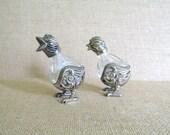 Vintage Godinger Silver Figural Chick Salt and Pepper Shakers