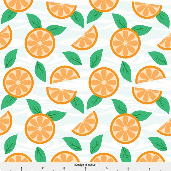 Orangees fabric oranges by sylviaoh modern kitchen for Modern home decor fabric