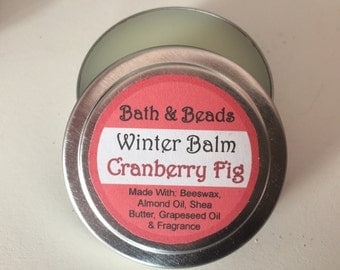 Cranberry Fig Winter Balm for Dry Rough Skin