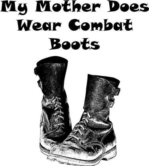 Mother Wears combat boots shoe clipart png clip art digital image download army military soldier printable images digi stamp digital stamp