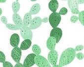 cactus baby bedding- southwestern crib sheet- green fitted sheet / mini crib sheet/ changing pad cover- neutral crib bedding- cactus sheet