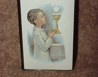 Vintage--1981--Boy's--First Communion--Prayer Book--First Steps To Jesus--Unused