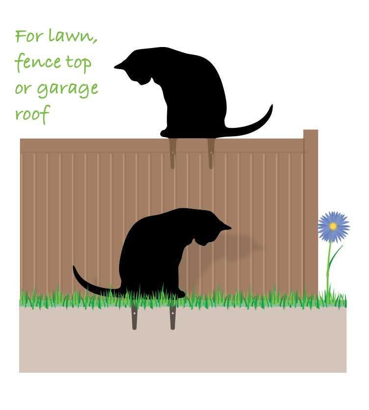 Garden Cat, Metal Cat Ornament, Scarecrow