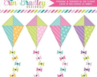 50% OFF SALE Kite Clipart Commercial Use Clip Art Graphics Instant Download