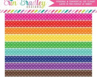 50% OFF SALE Polka Dot Borders Clipart Graphics Instant Download Digital Scrapbooking Clip Art Rainbow Colors